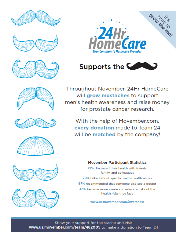 Support the Stache in Movember!