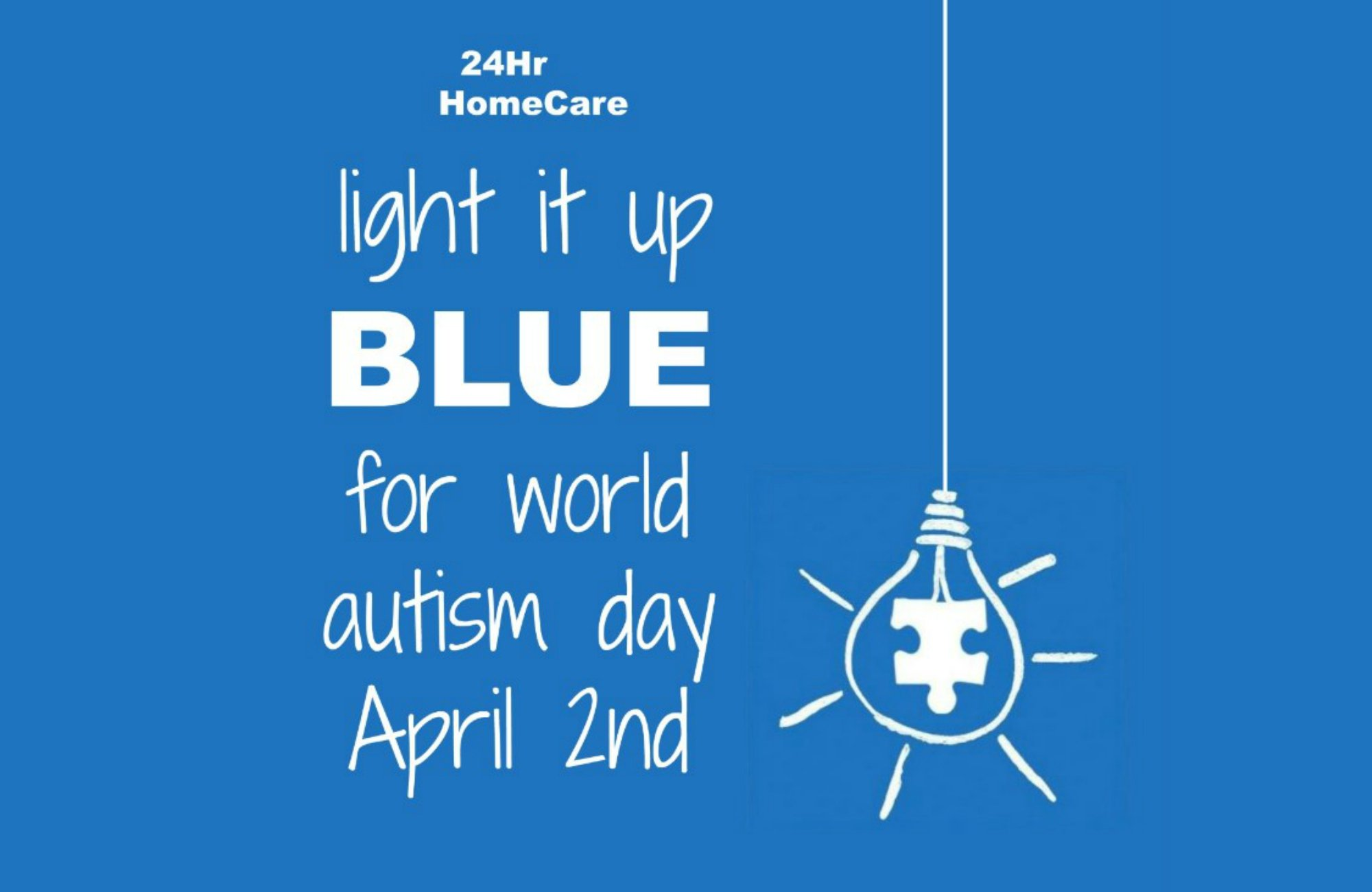 Light It Up Blue For World Autism Day!