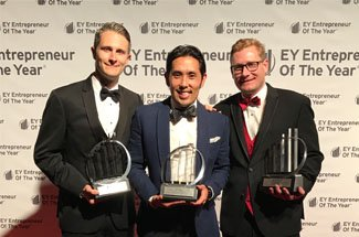 EY announces David Allerby, Tyner Brenneman-Slay, and Ryan Iwamoto, Co-Founders of 24 Hour Home Care, as Entrepreneur Of The Year® 2017 Award winners in Greater Los Angeles