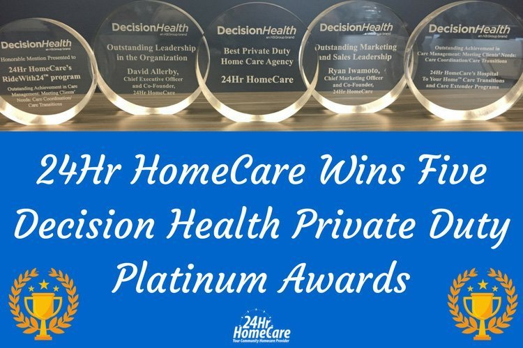 24 Hour Home Care Wins Big at the Decision Health Private Duty Platinum Awards