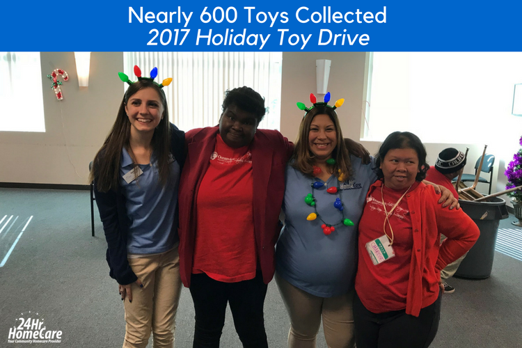 24 Hour Home Care's Toy Drive Brings Joy to Hundreds of Children of the Tri-Counties Regional Center