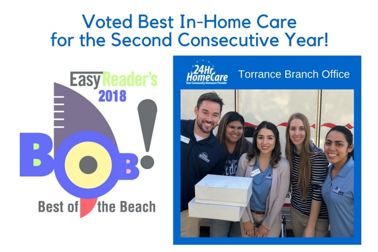 "24 Hour Home Care Voted ""Best of the Beach – Best In-Home Care""  for the Second Consecutive Year"