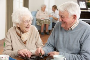 Couple at Assisted Living Facility