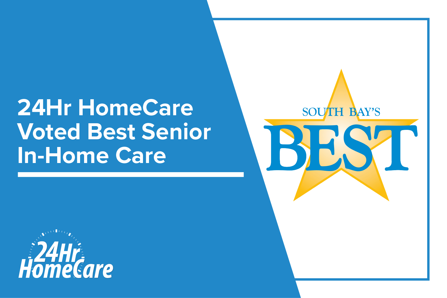 24Hr HomeCare Named South Bay's Best Senior In-Home Care for the Sixth Time