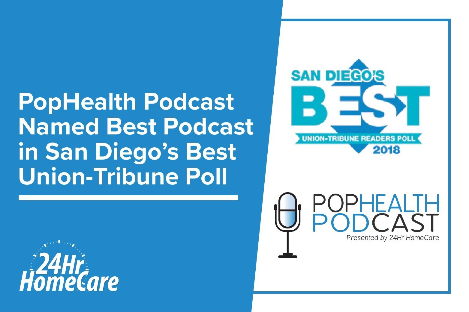 PopHealth Podcast Named Best Podcast in San Diego's Best Union-Tribune Readers Poll 2018